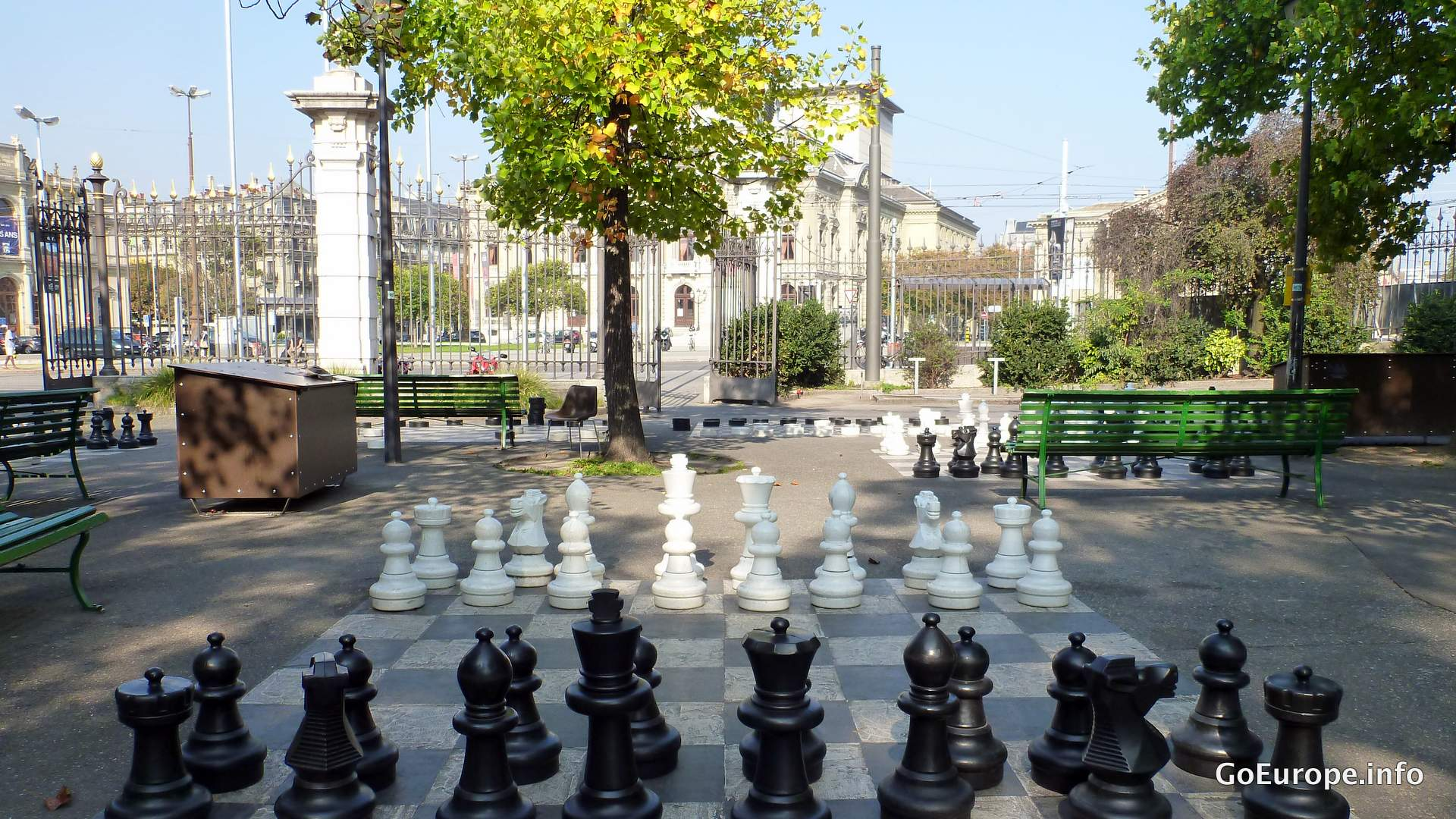 Finish off with playing some chess in the park.