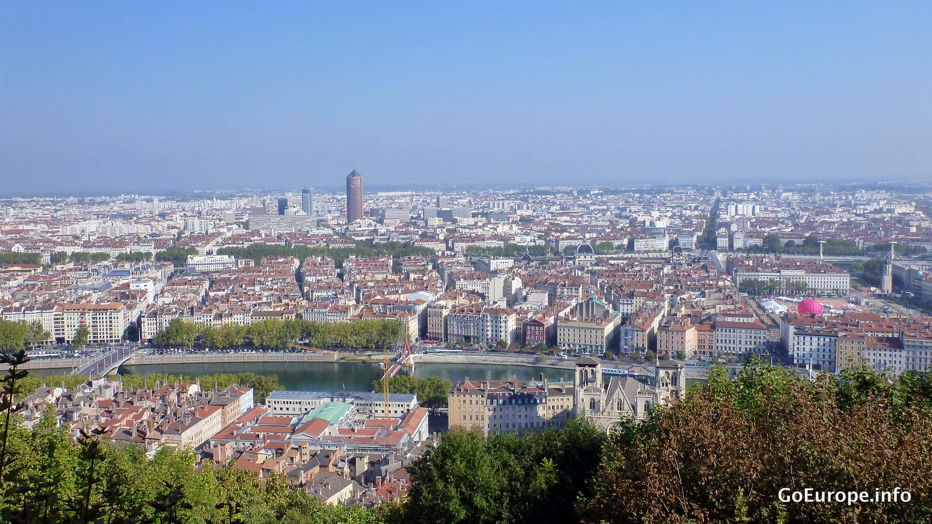 Great view from Basilique Notre Dame de Fourviere.